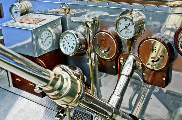 Photograph - 1909 Rolls-royce Silver Ghost Roi Des Belges Instruments by Jill Reger