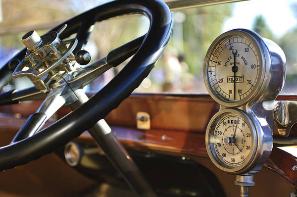 Photograph - 1914 Rolls-royce 40 50 Silver Ghost Landaulette Steering Wheel And Instruments by Jill Reger