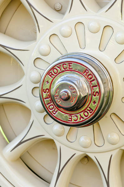 Photograph - 1914 Rolls-royce 40-50 Silver Ghost Landaulette Wheel by Jill Reger