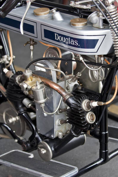 Photograph - 1917 Douglas Motorcycle by Jill Reger