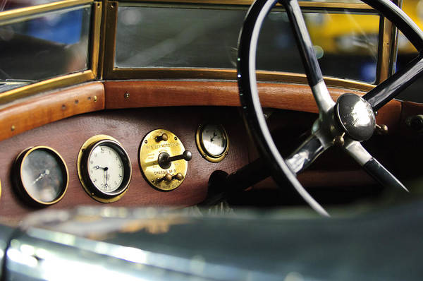 1921 Photograph - 1921 Bentley  Instruments And Steering Wheel by Jill Reger