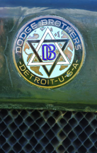 Photograph - 1923 Dodge Brothers Depot Hack Emblem by Jill Reger