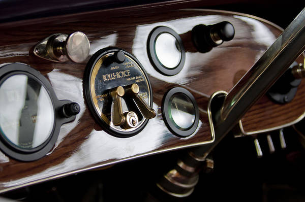 Photograph - 1923 Rolls-royce Dashboard by Jill Reger