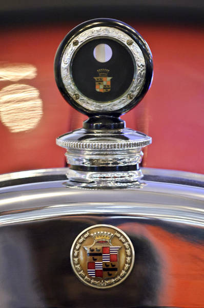 Photograph - 1924 Cadillac Phaeton Hood Ornament And Emblem by Jill Reger