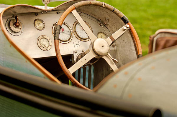 1924 Photograph - 1924 Delage 2lcv Steering Wheel by Jill Reger
