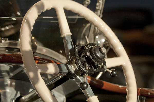 Photograph - 1925 Rolls-royce New Phantom Torpedo Sports Tourer Steering Wheel by Jill Reger