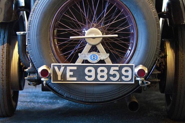 Photograph - 1927 Bentley 6.5 Liter Sports Tourer Spare Tire by Jill Reger