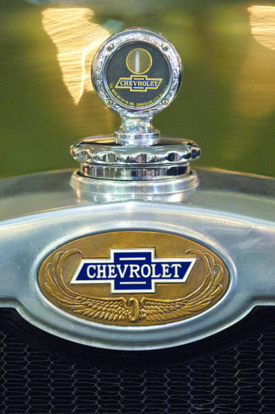 Photograph - 1928 Chevrolet 2 Door Coupe Hood Ornament by Jill Reger