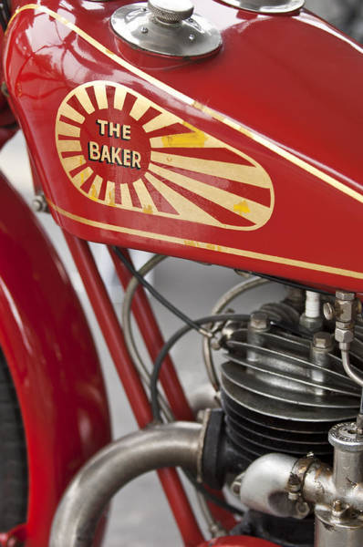 Photograph - 1929 Baker Motorcycle by Jill Reger