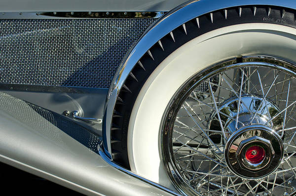 Photograph - 1929 Duesenberg Model J Dual Cowl Phaeton Spare Tire by Jill Reger