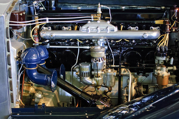 Photograph - 1929 Rolls-royce Phantom II Imperial Cabriolet Engine by Jill Reger