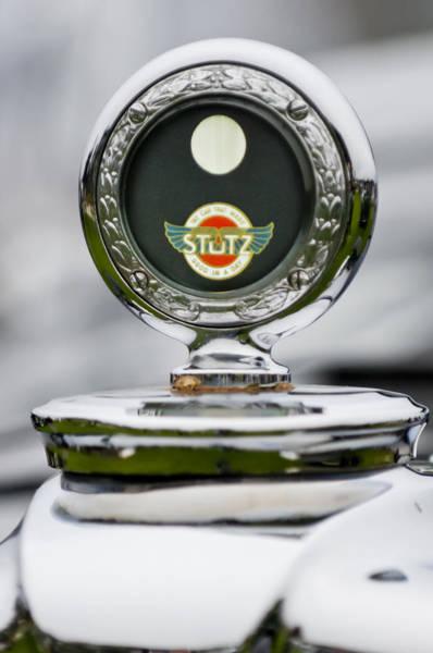 Photograph - 1929 Stutz M Weymann Le Mans Tourer Hood Ornament by Jill Reger