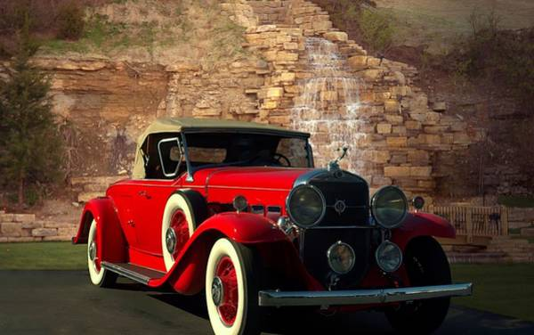 Photograph - 1931 Cadillac Roadster V8 Model 355 by Tim McCullough