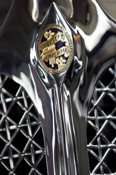 Photograph - 1931 Chrysler Cg Imperial Roadster Hood Emblem by Jill Reger