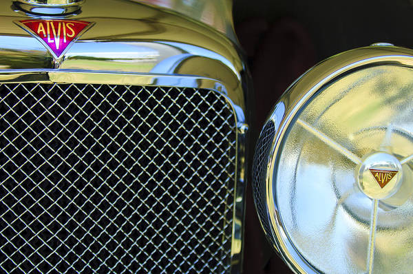 Wall Art - Photograph - 1932 Alvis-6 Speed 20 Sa Grille Emblem by Jill Reger