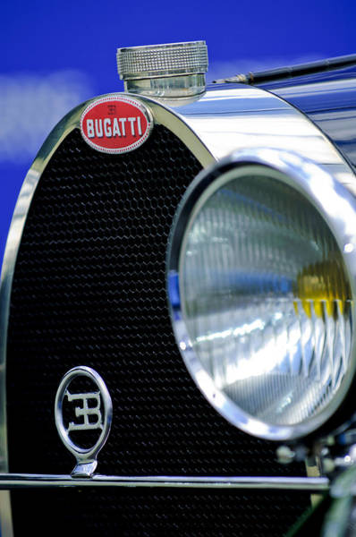 Photograph - 1932 Bugatti Type 55 Cabriolet Grille Emblem by Jill Reger