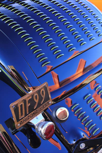 Photograph - 1932 Ford Taillight License Plate by Jill Reger