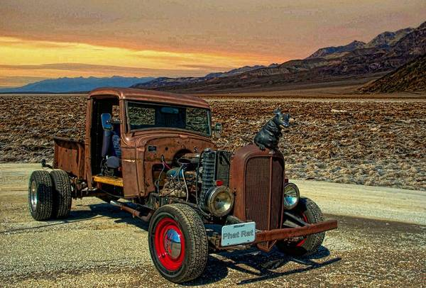 Street Rods Photograph - 1934 Chevrolet Rat Rod Pickup by Tim McCullough