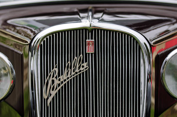 Photograph - 1934 Fiat Balilla Cammioncino Grille by Jill Reger