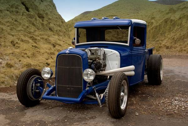 Photograph - 1934 Ford Hot Rod Pickup In Death Valley by Tim McCullough