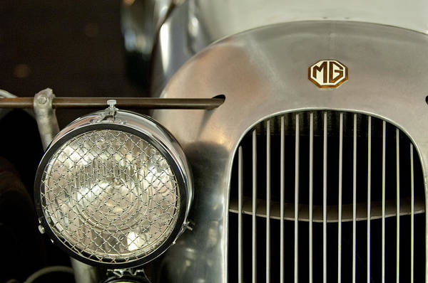 Photograph - 1934 Mg Pa Midget Supercharged Special Speedster Grille by Jill Reger