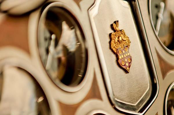 Auto Show Photograph - 1934 Packard 1104 Super Eight Phaeton Emblem by Jill Reger