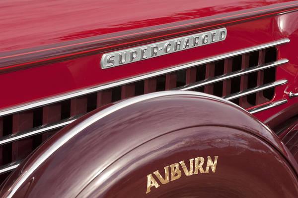 Photograph - 1935 Auburn Emblem by Jill Reger