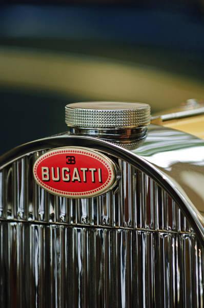 Photograph - 1935 Bugatti Type 57 Grand Raid Roadster Emblem by Jill Reger
