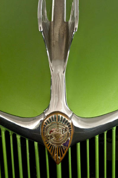 Photograph - 1935 Chrysler C6 Hood Ornament And Emblem by Jill Reger