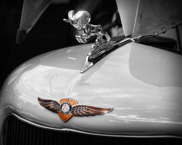 Wall Art - Photograph - 1935 Dodge Brothers Pickup - Ram Hood Ornament by Gordon Dean II