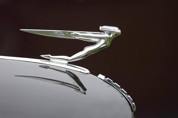 Photograph - 1936 Auburn 852 Supercharged Speedster Hood Ornament  by Jill Reger