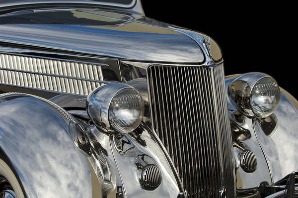 Stainless Steel Wall Art - Photograph - 1936 Ford - Stainless Steel Body by Jill Reger