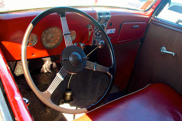 Photograph - 1936 Ford Dash by Mark Dodd