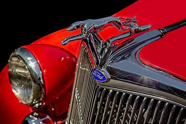 Photograph - 1936 Ford Model 48 Emblem by Susan Candelario
