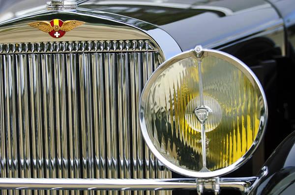 Photograph - 1936 Hispano-suiza J12 Saoutchik Cabriolet Grille Emblem by Jill Reger