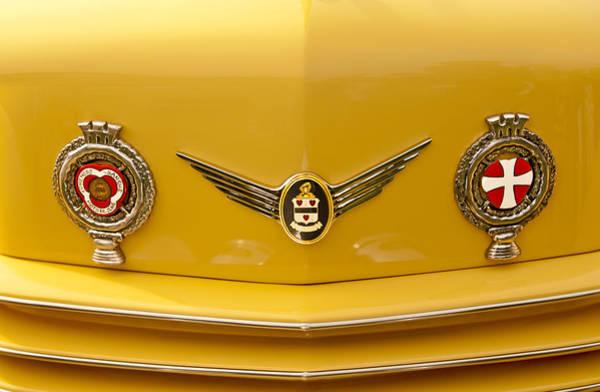Photograph - 1937 Cord 812 Sc Convertible Phaeton Sedan Grille Emblem by Jill Reger