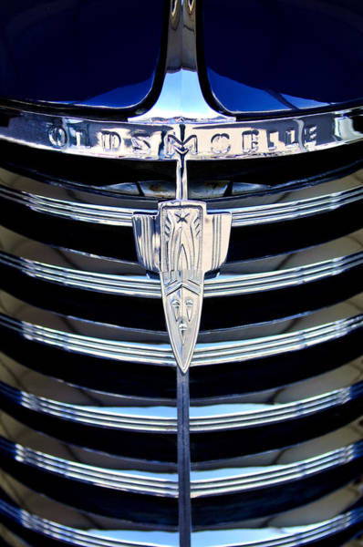 Photograph - 1938 Oldsmobile Rj8 Club Coupe Grille Emblem by Jill Reger