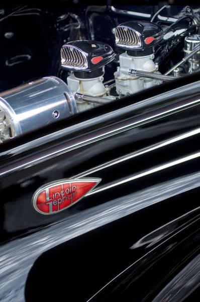 Photograph - 1939 Lincoln Zephyr Engine by Jill Reger