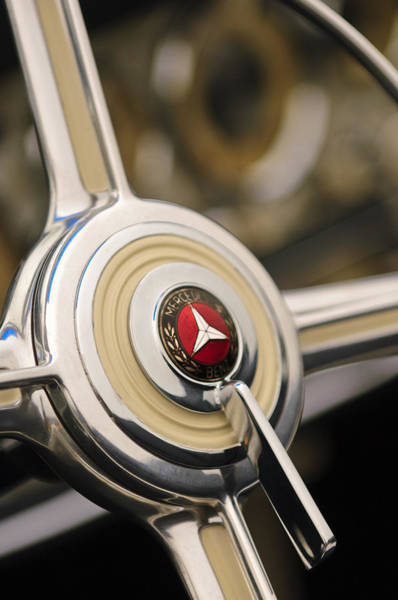 Photograph - 1939 Mercedes-benz 540k Special Roadster Steering Wheel by Jill Reger