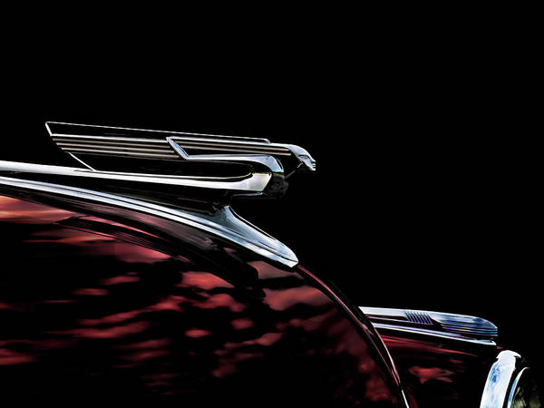 Wall Art - Digital Art - 1940 Chevy Hood Ornament Take 2 by Douglas Pittman