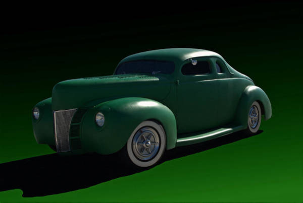 Photograph - 1940 Ford Chopped Coupe by Tim McCullough