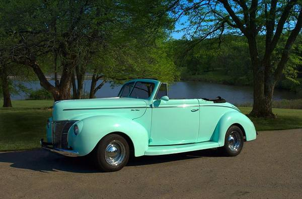 Photograph - 1940 Ford Convertible by Tim McCullough