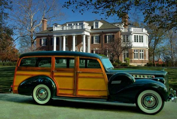 Photograph - 1940 Packard Cantrell 1803 Woody Station Wagon by Tim McCullough