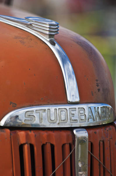 Wall Art - Photograph - 1940's Studebaker Truck Hood Ornament by Jill Reger