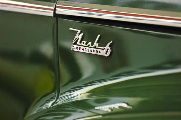 Photograph - 1941 Nash Ambassador 6 Emblem by Jill Reger