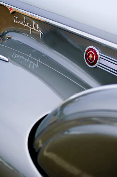 Photograph - 1941 Packard 1907 Custom Eight One-eighty Lebaron Sport Brougham Side Emblems by Jill Reger