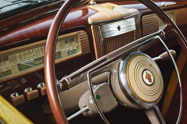 Photograph - 1941 Packard Steering Wheel by Jill Reger