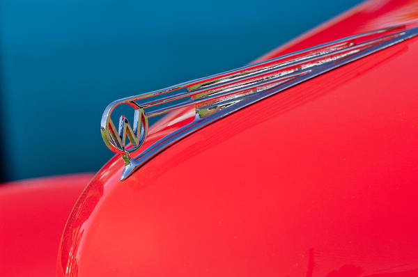 Photograph - 1941 Willys Coupe Hood Ornament by Jill Reger