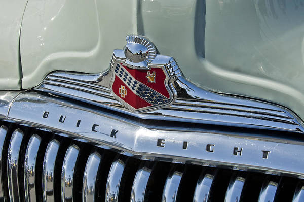 Wall Art - Photograph - 1947 Buick Super Emblem by Jill Reger