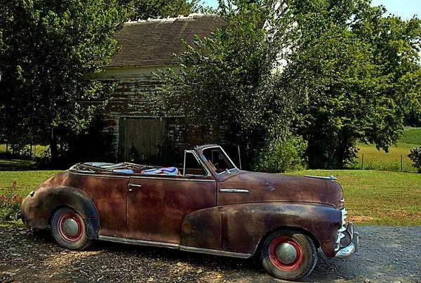 Photograph - 1947 Chevrolet Convertible by Tim McCullough